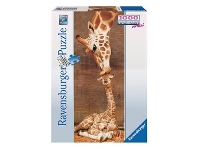 【Ravensburger-全景拼圖-1000片】長頸鹿之吻Giraffes: First Kiss