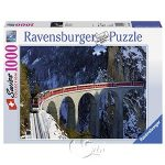 【Ravensburger拼圖-1000片】雪山列車Landwasserviadukt