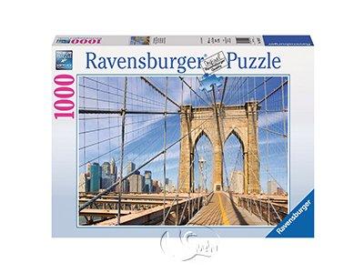 【Ravensburger拼圖-1000片】布魯克林大橋一隅View from the Brooklyn Bridge