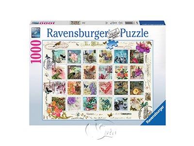 【Ravensburger拼圖-1000片】花卉郵票集錦Vintage Postage