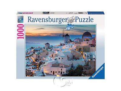【Ravensburger拼圖-1000片】聖托里尼的夜晚Santorini in the evening