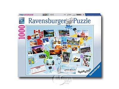 【Ravensburger拼圖-1000片】環遊世界的回憶World Travel Memories