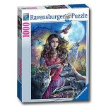 【Ravensburger拼圖-1000片】少女與狼Protector of Wolves