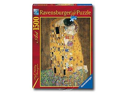 【Ravensburger-名畫系列拼圖-1500片】克林姆:親吻Klimt: The Kiss