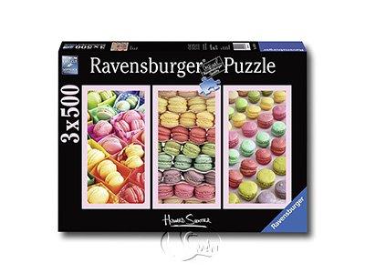 【Ravensburger-美食系列拼圖-3x500片】馬卡龍Macaroons
