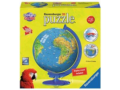 【Ravensburger-3D立體拼圖-180片】兒童的地球儀XXL Children's Globe
