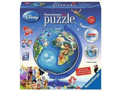【Ravensburger-3D立體拼圖-180片】迪士尼的世界地球儀Disney Globe