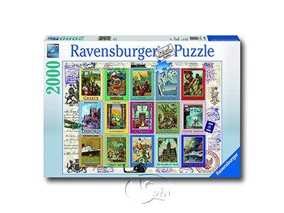【Ravensburger拼圖-2000片】假期郵票Vacation Stamps