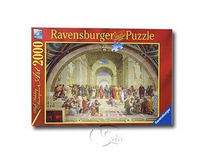 【Ravensburger-名畫系列拼圖-2000片】拉斐爾:雅典學派Raphael: The School of Athens
