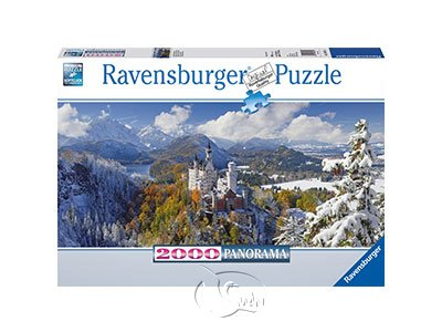 【Ravensburger拼圖-2000片】新天鵝堡雪景Neuschwanstein
