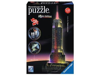 【Ravensburger-3D立體拼圖-216片】夜晚的帝國大廈Empire State Building at Night