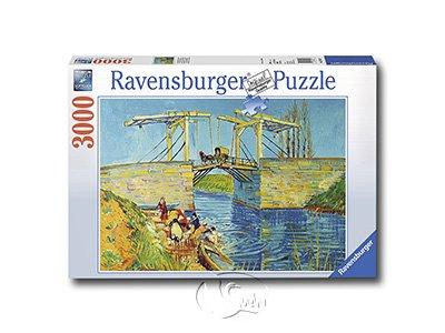 【Ravensburger-名畫系列拼圖-3000片】梵谷:蘭花橋Van Gogh: bridge of langlois