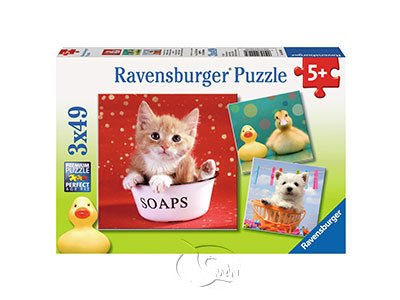 【Ravensburger拼圖-3x49片】逗趣的動物們Funny Animals