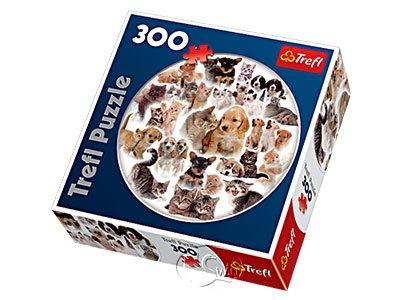 【Trefl-圓形拼圖-300片】我們的寵物Our Pets