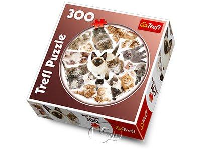 【圓形拼圖-300片】貓咪群像Kittens