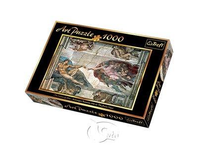 【名畫系列拼圖-1000片】米開朗基羅-創造亞當Creation of Adam, Michelangelo