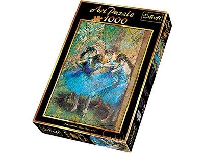 【名畫系列拼圖-1000片】竇加-藍衣舞者Dancers in blue, Degas