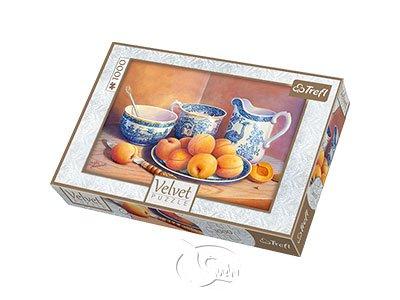 【絲絨質感拼圖-1000片】瓷器與杏桃Apricot Dessert