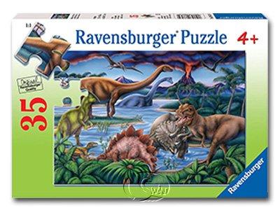 【Ravensburger拼圖-35片】恐龍遊樂場Dinosaur Playground
