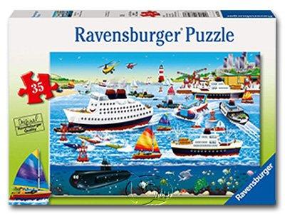 【Ravensburger拼圖-35片】快樂港Happy Harbor