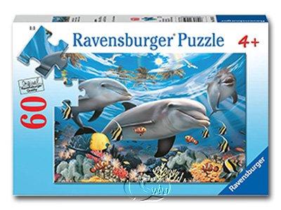 【Ravensburger拼圖-60片】微笑海豚Caribbean Smile