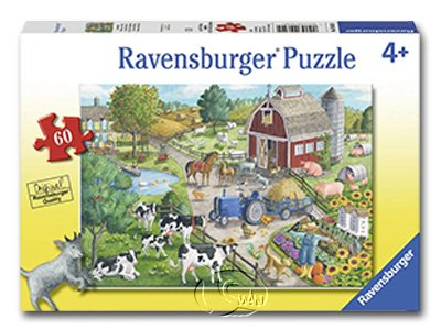 【Ravensburger拼圖-60片】農場生活Home on the Range