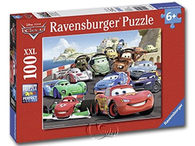 【Ravensburger-大拼片拼圖-100XXL片】迪士尼:閃電麥坤賽車DCA: Explosive racing