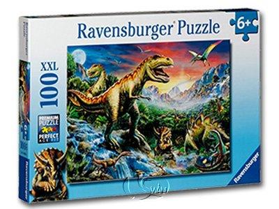 【Ravensburger-大拼片拼圖-100XXL片】恐龍世界Bei den Dinosauriern