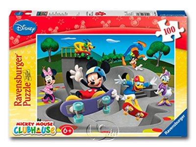 【Ravensburger拼圖-100片】迪士尼:米奇的趣味滑板俱樂部Mickey 's Funny Skate Club