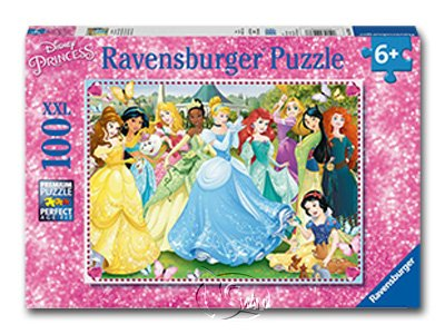 【Ravensburger-大拼片拼圖-100XXL片】迪士尼:迷人的公主們Enchanting Princesses