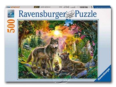 【Ravensburger拼圖-500片】森林狼族Wolfsfamilie im Sonnenschein