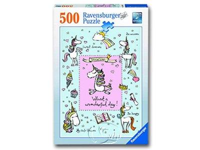 【Ravensburger拼圖-500片】獨角獸之愛Unicorn Love