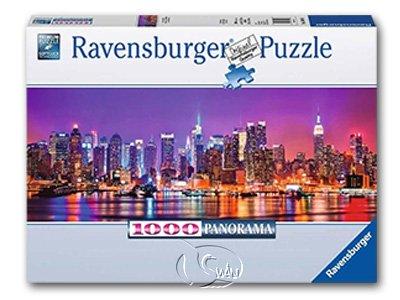 【Ravensburger-全景拼圖-1000片】曼哈頓夜景Manhattan Lights