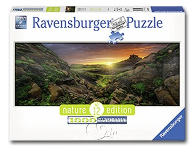 【Ravensburger-全景拼圖-1000片】冰島日光Sun over Iceland