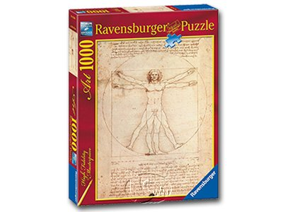 【Ravensburger-名畫系列拼圖-1000片】達文西:維特魯威人Leonardo da Vinci:Proportions of the Human Figure