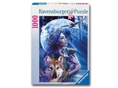 【Ravensburger拼圖-1000片】狼之女神Goddess of the Wolves