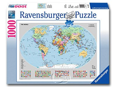 【Ravensburger拼圖-1000片】政治世界地圖Political World Map