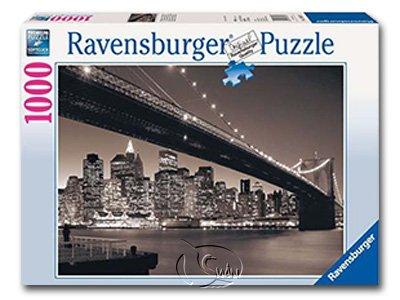 【Ravensburger拼圖-1000片】曼哈頓布魯克林大橋Manhattan m. Brookl.Bridge
