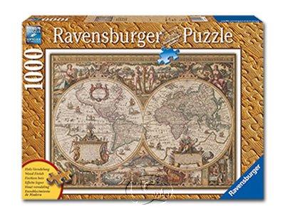 【Ravensburger拼圖-1000片】古世界地圖Antique World Map