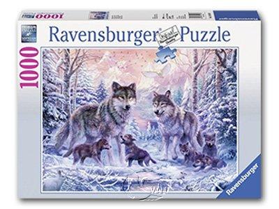 【Ravensburger拼圖-1000片】極地狼群Loups arctiques