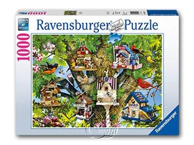 【Ravensburger拼圖-1000片】歡樂鳥樹屋Bird Village