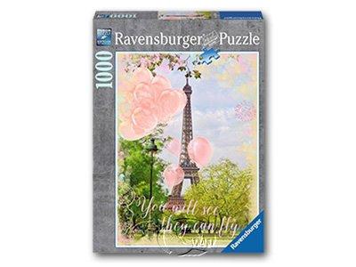 【Ravensburger拼圖-1000片】艾菲爾鐵塔的夢Eiffel Tower Dreams