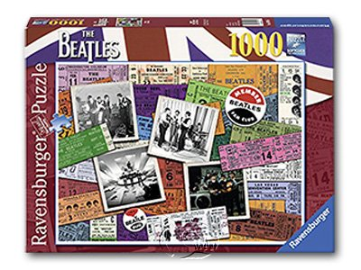 【Ravensburger拼圖-1000片】披頭四票根The Puzzle Tickets Beatles
