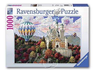 【Ravensburger拼圖-1000片】熱氣球新天鵝堡之夢Neuschwanstein Dreams