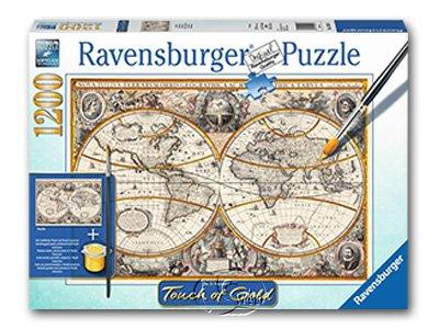 【Ravensburger拼圖-1200片】手繪金漆-古老世界Antique World