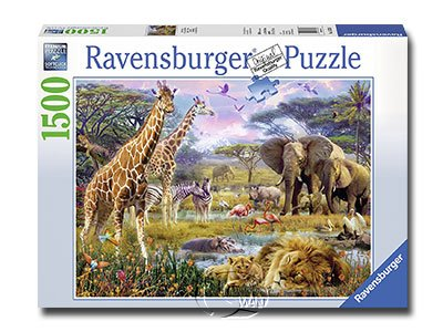 【Ravensburger拼圖-1500片】多彩的非洲Buntes Afrika