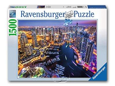 【Ravensburger拼圖-1500片】波斯灣杜拜夜景Dubai on the Persian Gulf