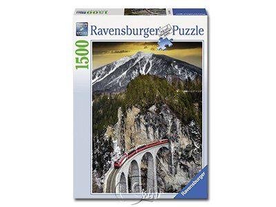 【Ravensburger拼圖-1500片】冬季峽谷列車Winter Canyon