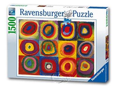【Ravensburger-名畫系列拼圖-1500片】康汀斯基:色彩研究Kandisnsky:Color Study