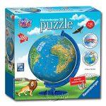 【Ravensburger-3D立體拼圖-180片】兒童地球儀Children's World Globe